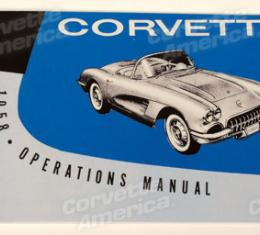 Corvette Owners Manual, 1958
