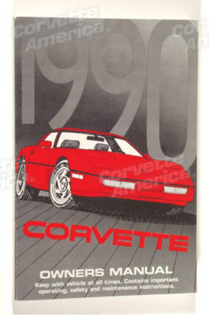 Corvette Owners Manual, 1990, NQP