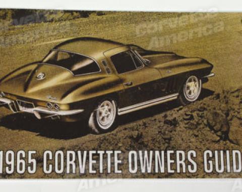 Corvette Owners Manual, 1965