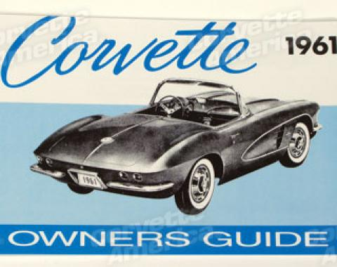Corvette Owners Manual, 1961
