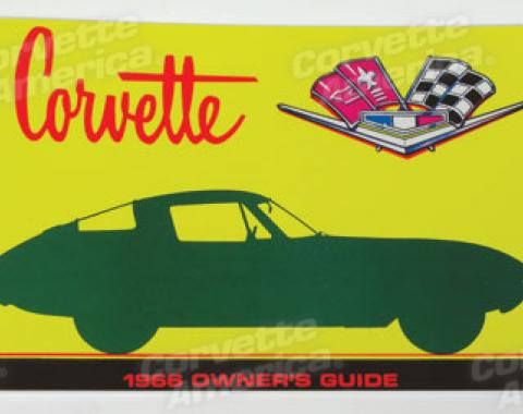 Corvette Owners Manual, 1966