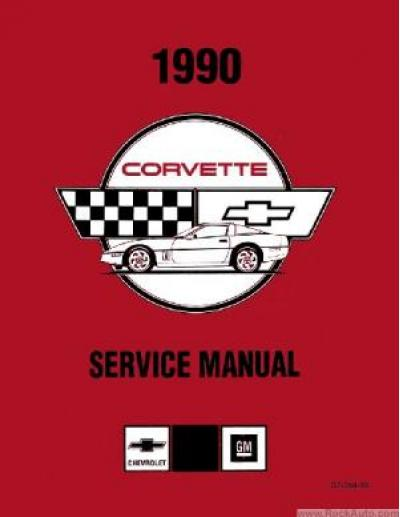 Corvette Service Manual, USED 1990