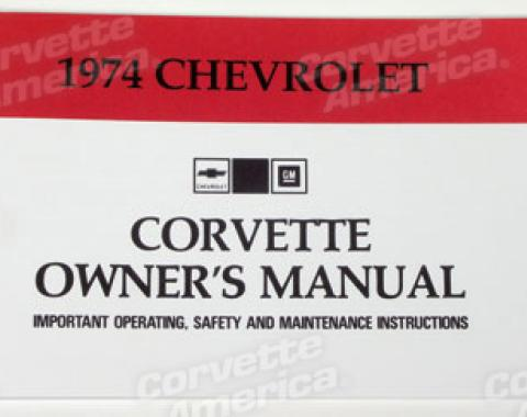 Corvette Owners Manual, 1974