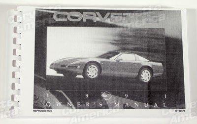 Corvette Owners Manual, 1991, NQP