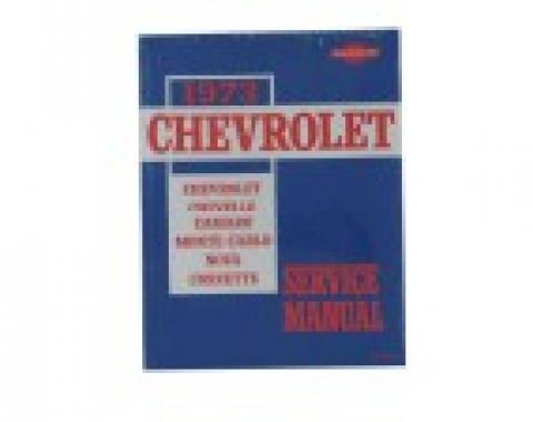 Corvette Service Manual, 1973