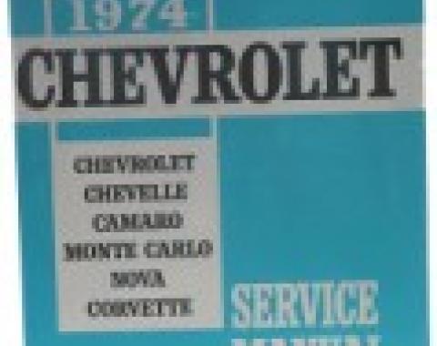 Corvette Service Manual, 1974