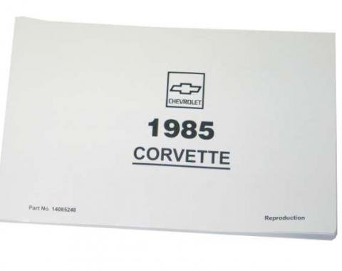 Corvette Owners Manual, 1985