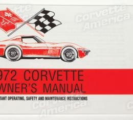 Corvette Owners Manual, 1972