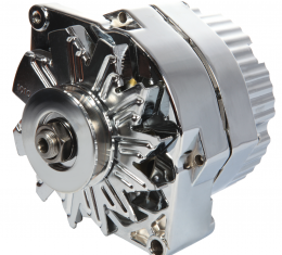 Proform Alternator, GM 73-86 with Internal Regulator, Machined Pulley, Chrome, 100% New 66445N