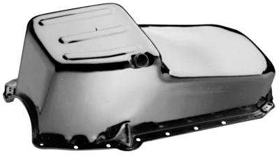 Proform Oil Pan, Street Type Unit, Chrome Plated Steel, Fits Small Block Chevy 1965-1979 66162