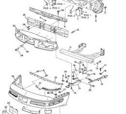 Corvette Front and Rear Bumper/Fascia Retainer, 1991-1996