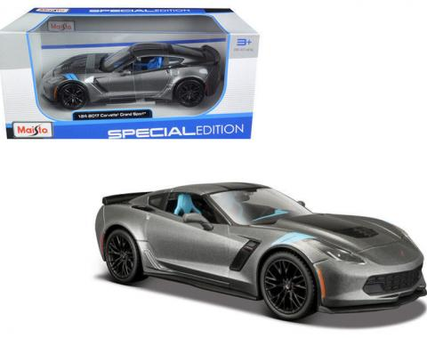 Corvette 2017 Grand Sport Metallic Gray 1/24 Diecast