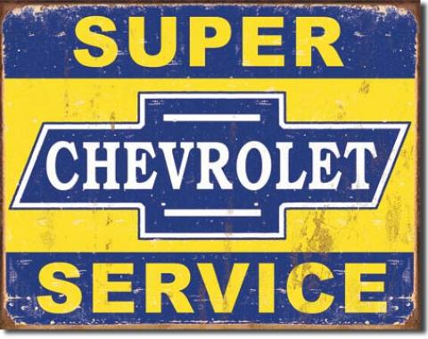 Tin Sign, Super Chevy Service