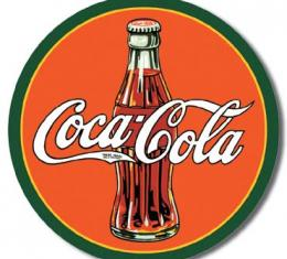 Tin Sign, COKE - Round 30's Bottle & Logo