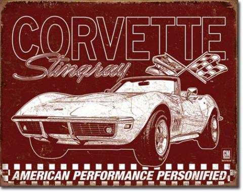 Tin Sign, Corvette - 69 StingRay