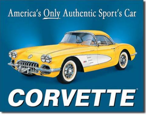 Tin Sign, CHEVY - '58 Vette