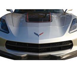 Corvette Concept7 Carbon Fiber Grille Insert Overlays, 2014-2017