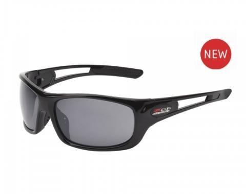 Corvette Eyewear® C7 Z06 Rx Capable Full Frame Sunglasses, Gloss Black, Smoke Flash Mirror Lenses