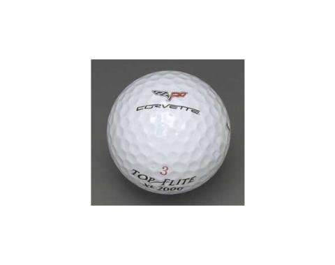 Corvette Golf Balls, With C6 Logo