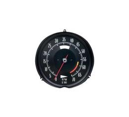 Corvette Tachometer, 6000 RPM, 1972-1974