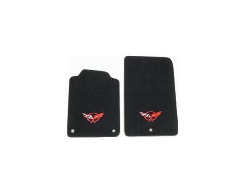 Auto Custom Carpet, Floor Mats, Tru-Vette, With Embroidery #146 Logo| 35872 Corvette 1997-2004