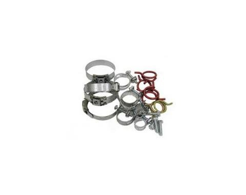 Corvette Radiator/Heater Hose Clamp Kit, With 327ci High Performance & Without Air Conditioning, 1963-1967