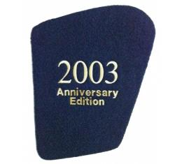 Corvette Hood Liner, With Monogrammed Year And Anniversary Edition, Silver, 2003