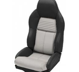 Corvette Seat Covers, Two-Tone Standard Leather, 1994-1996