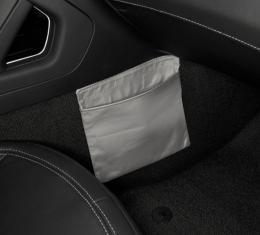 Corvette Leather Console Passenger Side Pouch, Solid Color, 2014-2016
