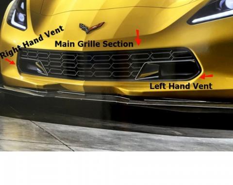 Corvette Z06 Front Grille, Solid Body Color, 2014-2017