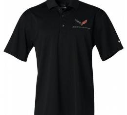 Corvette C7 Polo, Men's Nike Dri Fit, Black