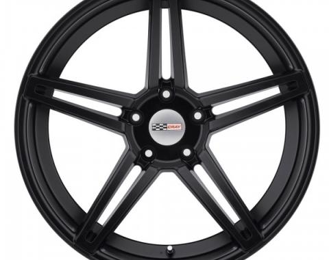Corvette Wheel, Cray Brickyard, 19x9.5, Matte Black, 2014-2017