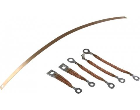 Corvette Radio Ground Strap Kit, With Standard Exhaust, 1964-1967