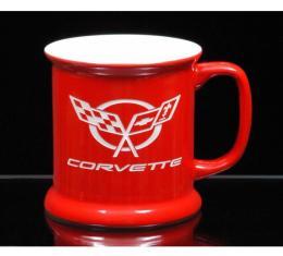 Corvette 13.5 Ounce Coffee Mug, VIP, Red/White, 1953-2013