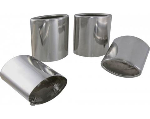 Corvette Exhaust Tips, Polished Stainless Steel, 1997-2000