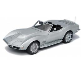 Corvette Die-Cast Model, Convertible, Cortez Silver, Auto Art Limited Edition, 1969