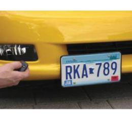 "Corvette Front License Plate Mount, ""Show & Go"", With Remote, Z06 & Grand Sport, 2006-2013"