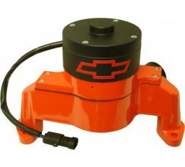 Nova And Chevy II Electric Aluminum Water Pump With Bowtie Logo, Small Block, 1962-1979