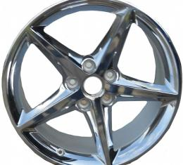 "Corvette Grandsport OEM, QX3, Chrome 18"" X 8.5"" Wheel, 2005-2013"