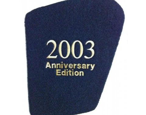 Corvette Hood Liner, With Monogrammed Year And Anniversary Edition, Gold, 2003