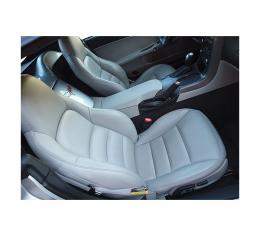 Corvette Seat Covers, Standard, 100% Leather, 2005-2011 | 2005 Steel Gray