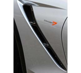Corvette Concept7 Carbon Fiber Front Fender Gill Inserts, 2014-2017
