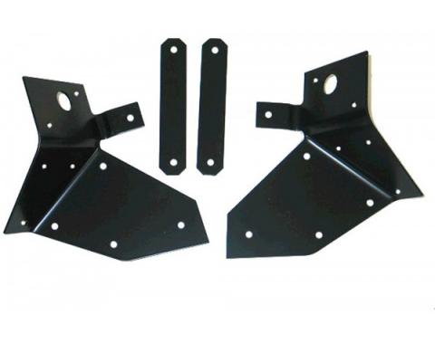 Corvette Body Mount Reinforcements, Front with Strap Steel, 1959-1962