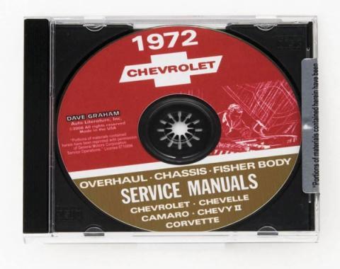 Corvette Service Manual On CD, 1972
