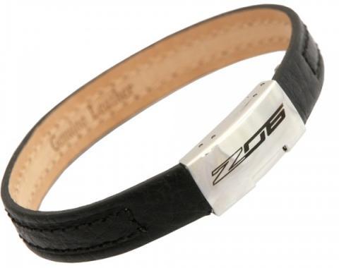 Corvette C7 Z06 Leather Adjustable Bracelet, Large