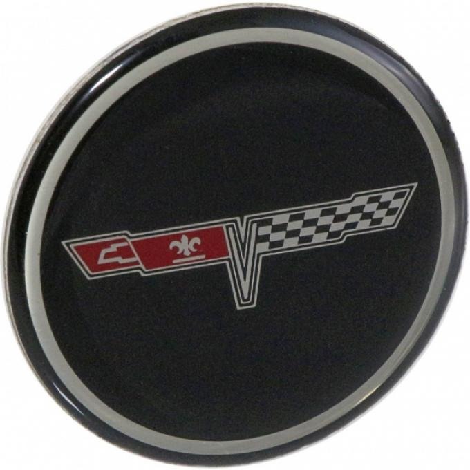 Corvette Wheel Center Cap Emblem, NOS, 1980-1981