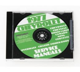 Corvette Service Manual On CD, 1977