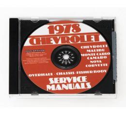 Corvette Service Manual On CD, 1978