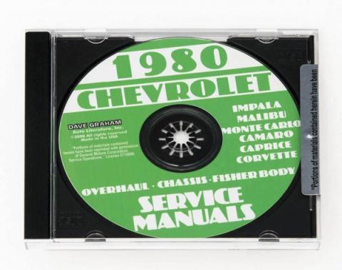 Corvette Service Manual On CD, 1980