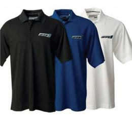 Corvette C6 Polo Shirt, Cutter & Buck Championship, Men's, ZR1 Logo, Black